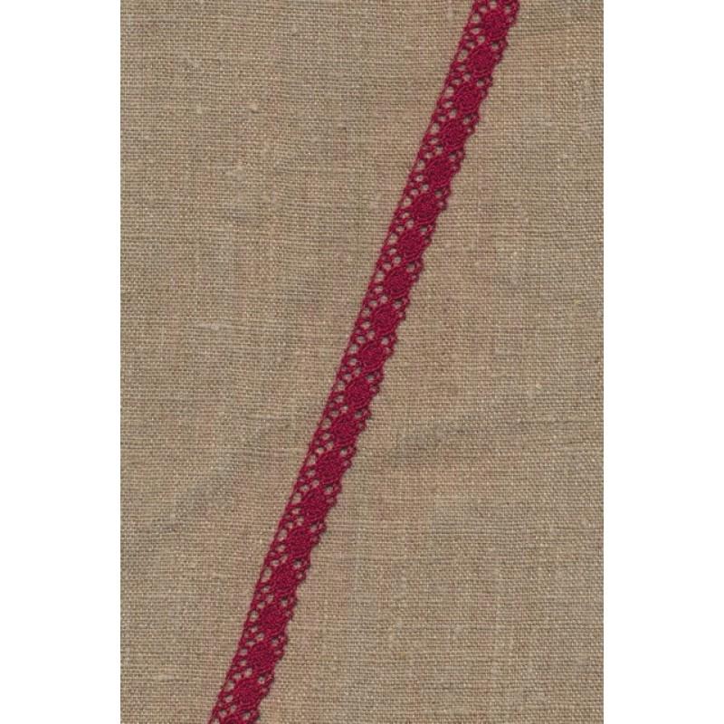 Bomulds-blonde 10 mm. i mørk rød-33