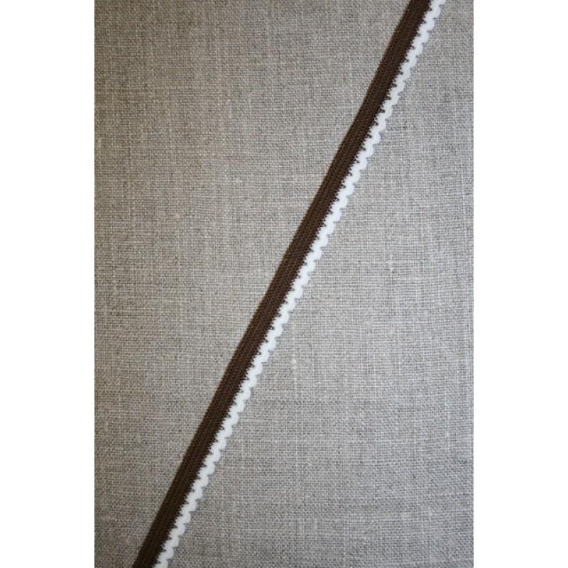 Kantelastik retro brun hvid-34