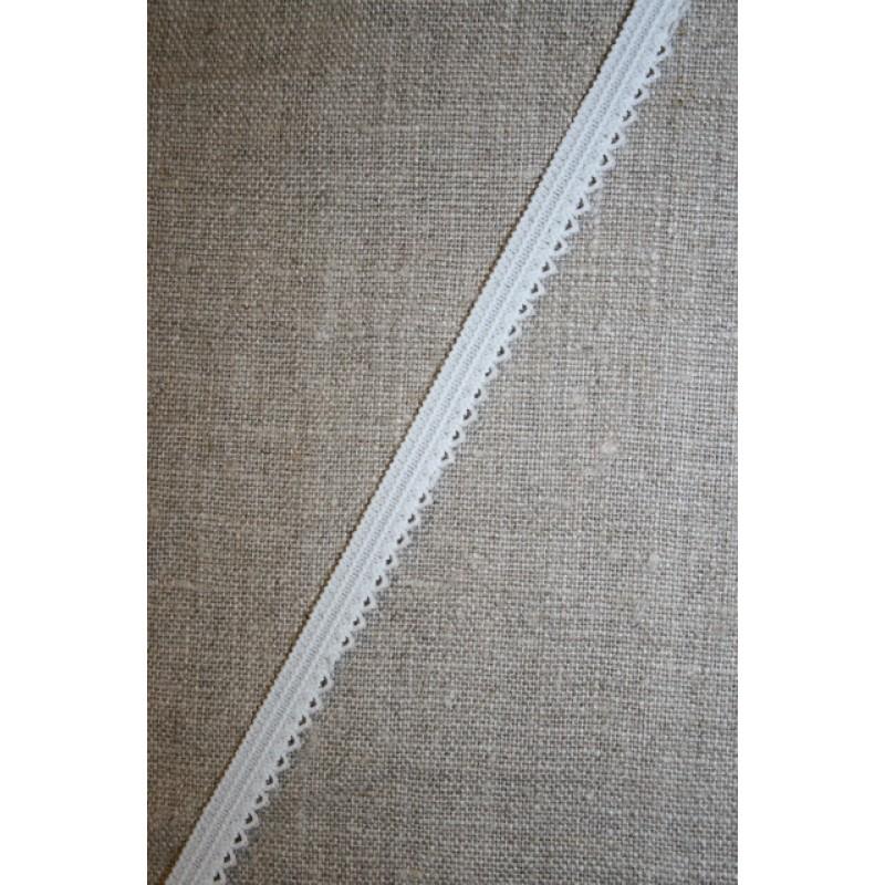 Kantelastik grå-hvid med små takker-35