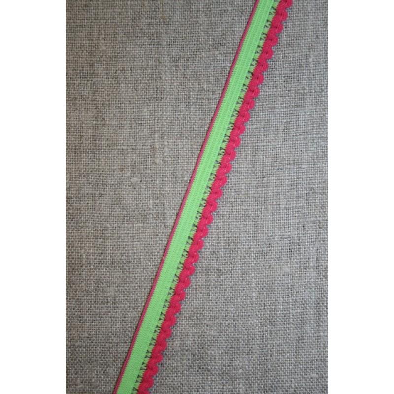 Kantelastik 2-farvet lime pink-31