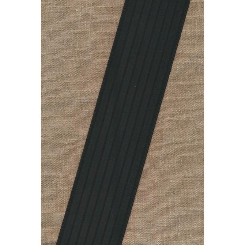 Elastik til bælter 60 mm. sort-33
