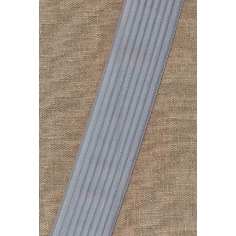 Elastik til bælter 60 mm. lys sølv-grå-34