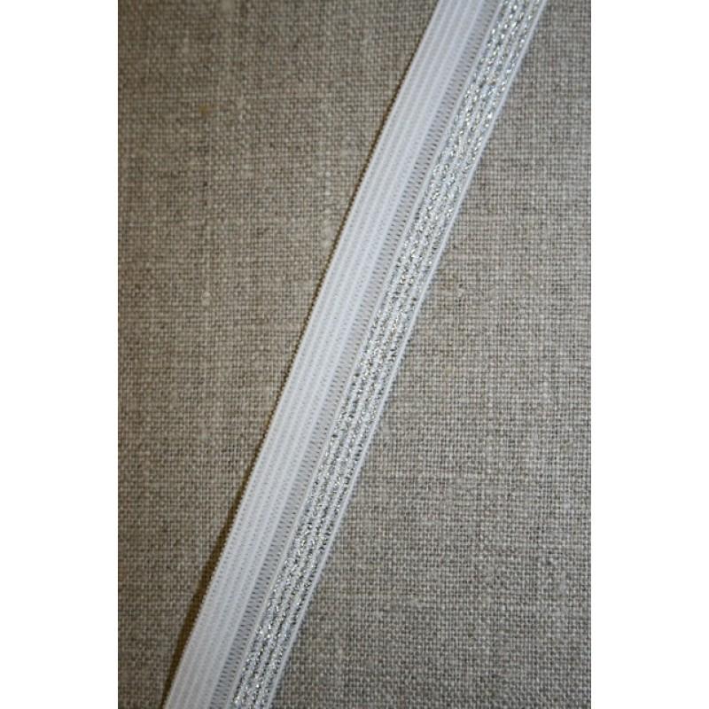 Foldeelastik m/lurex, hvid/sølv-31