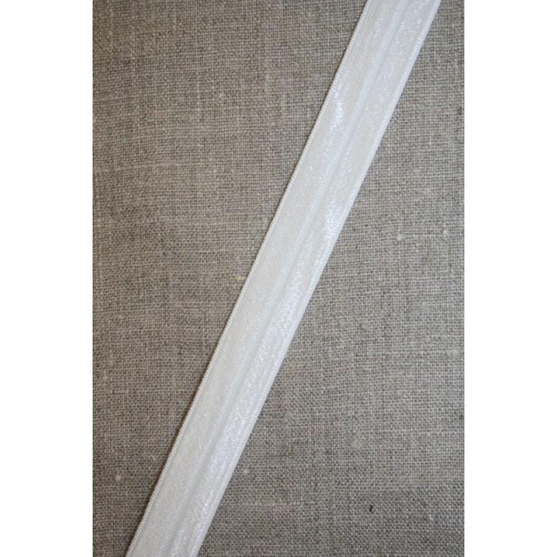 Foldeelastik silk/knækket hvid