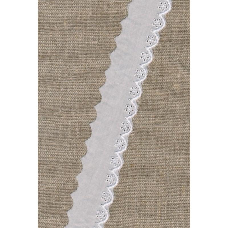 Feston hvid med blankt broderi 30 mm.-33