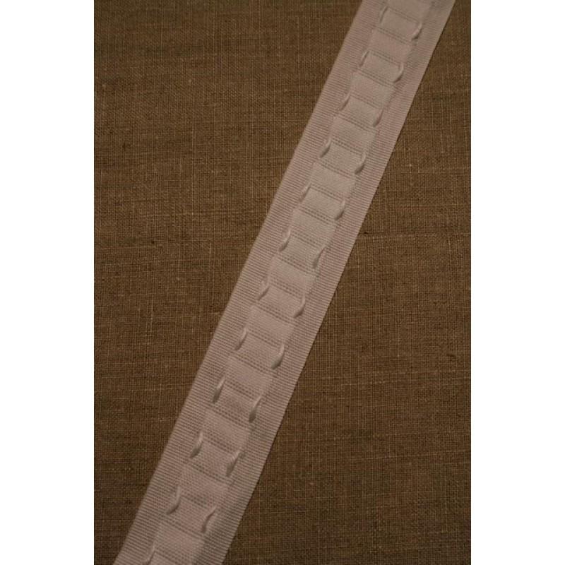 Rest Rynkebånd i hvid, 265 cm.