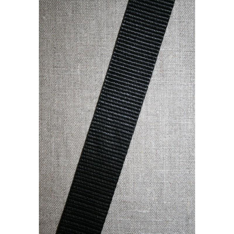 Nylon gjordbånd 30 mm. sort
