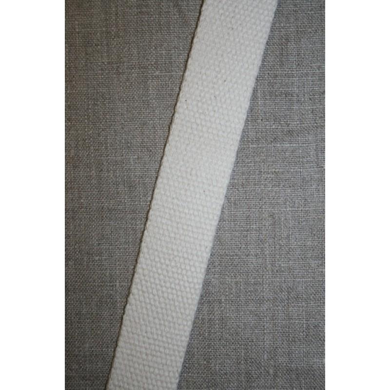 Kraftig gjordbånd 30 mm. off-white