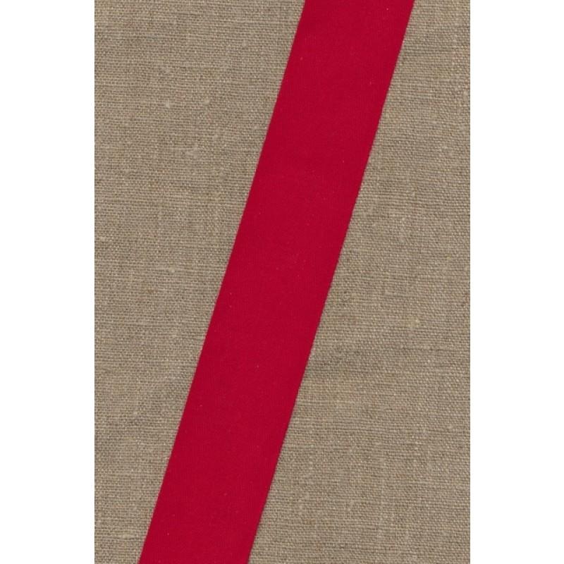 Bomuldsbånd - Gjordbånd 40 mm. rød