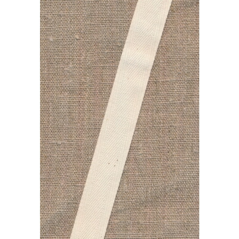 Gjordbånd/bændel sildebensvævet i off-white 19 mm.-32