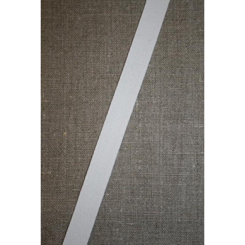 Bomuldsbånd/Gjordbånd hvid, 15 mm.