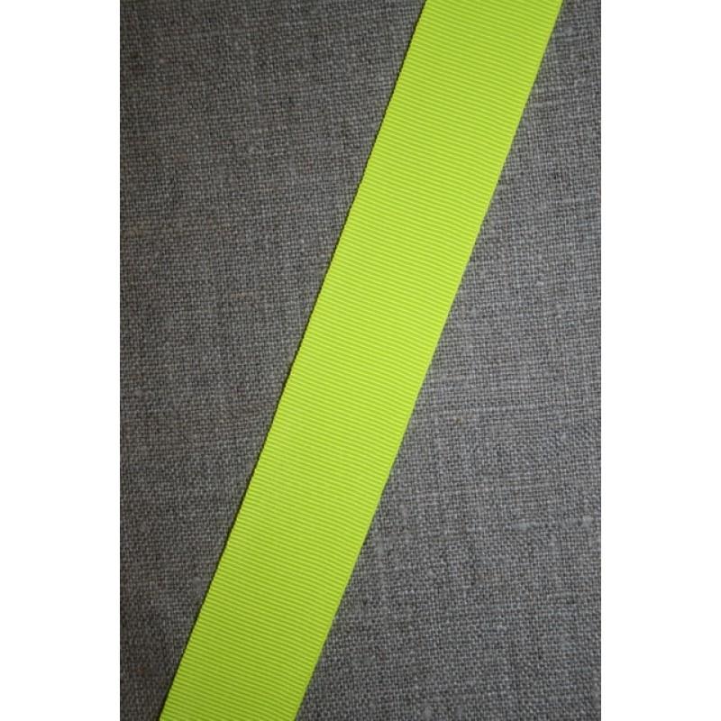 Rest Bånd grosgrain neon gul 42 cm.-31