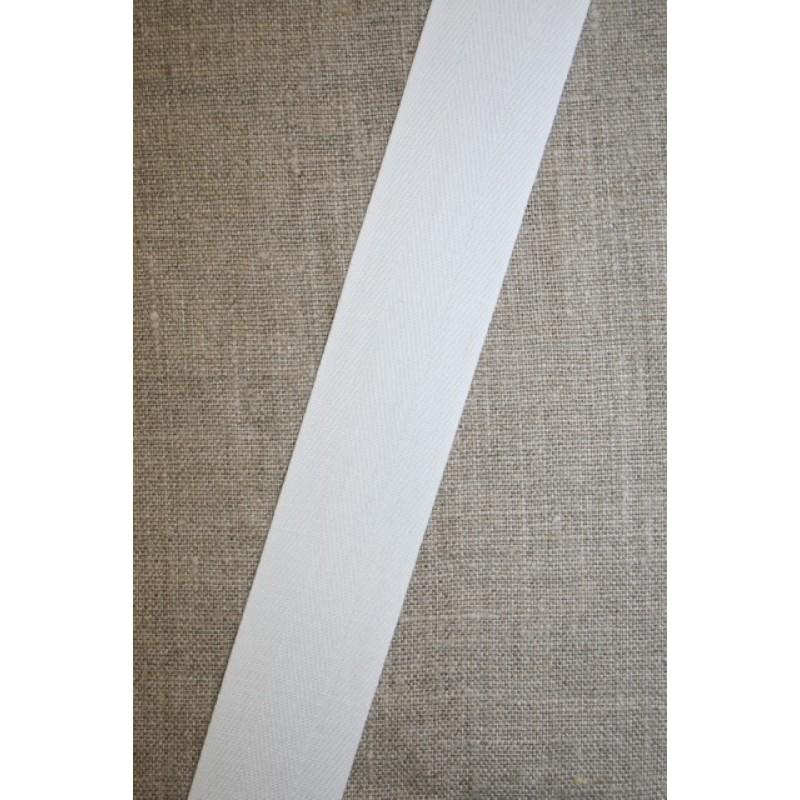 Rest Bomuldsbånd/Gjordbånd hvid, 30 mm., 33+58+80 cm.-35