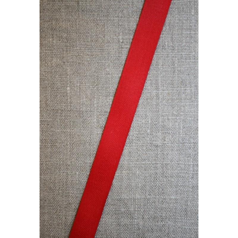 Bomuldsbånd/Gjordbånd rød 15 mm.-35