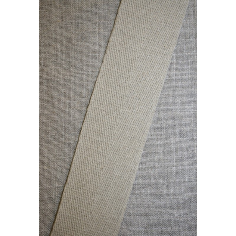 Hørgjord-bånd 50 mm. natur-31