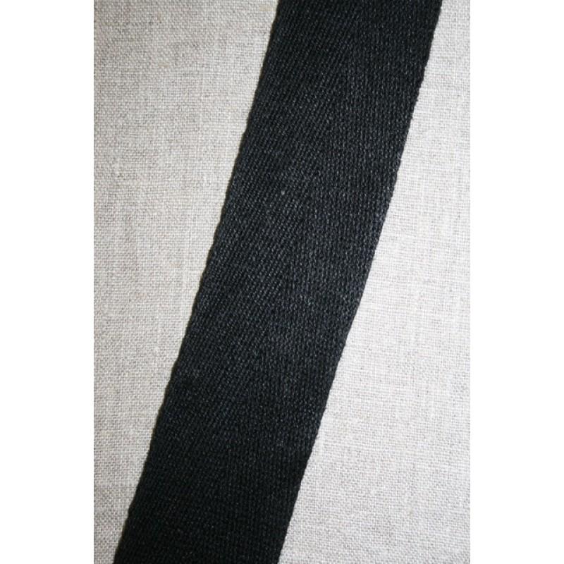 Hørgjord-bånd 50 mm. sort
