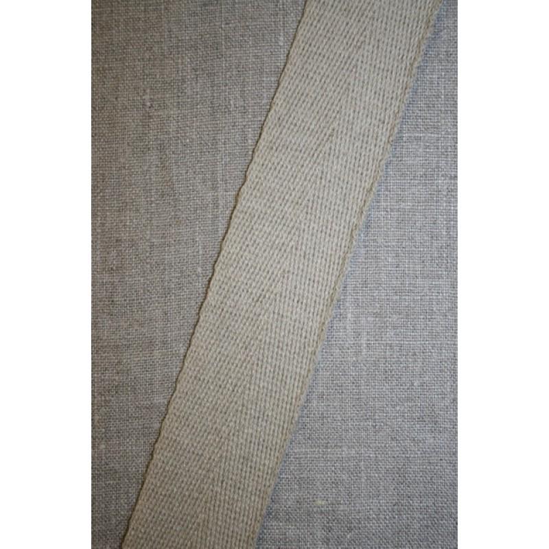 Hørgjord-bånd 40 mm. natur-35