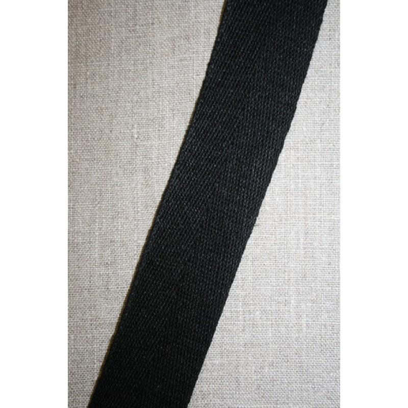 Hørgjord-bånd 40 mm. sort-35