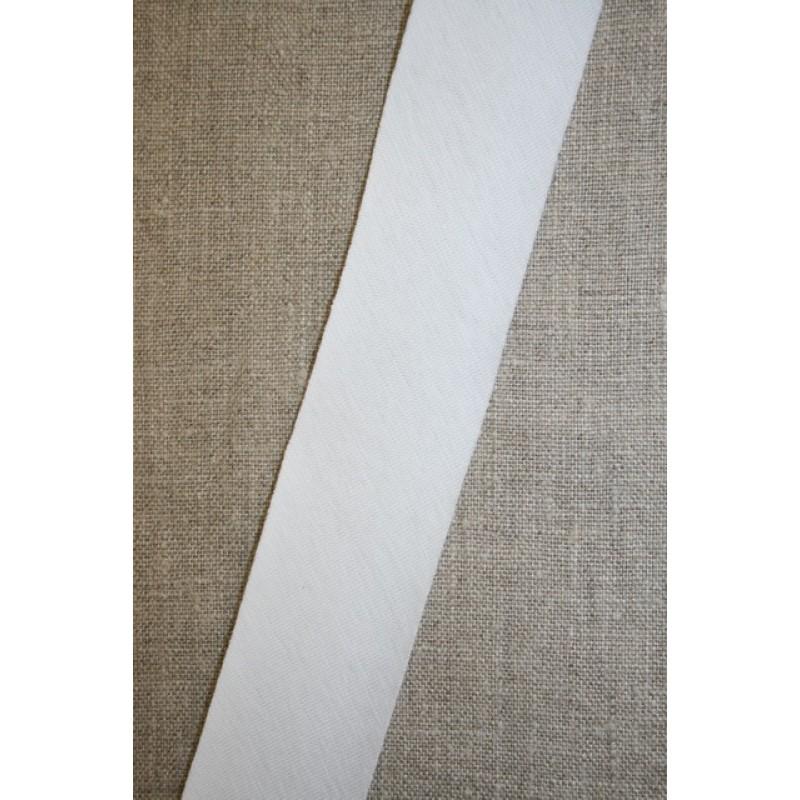 Kantbånd skråbånd i jersey, hvid