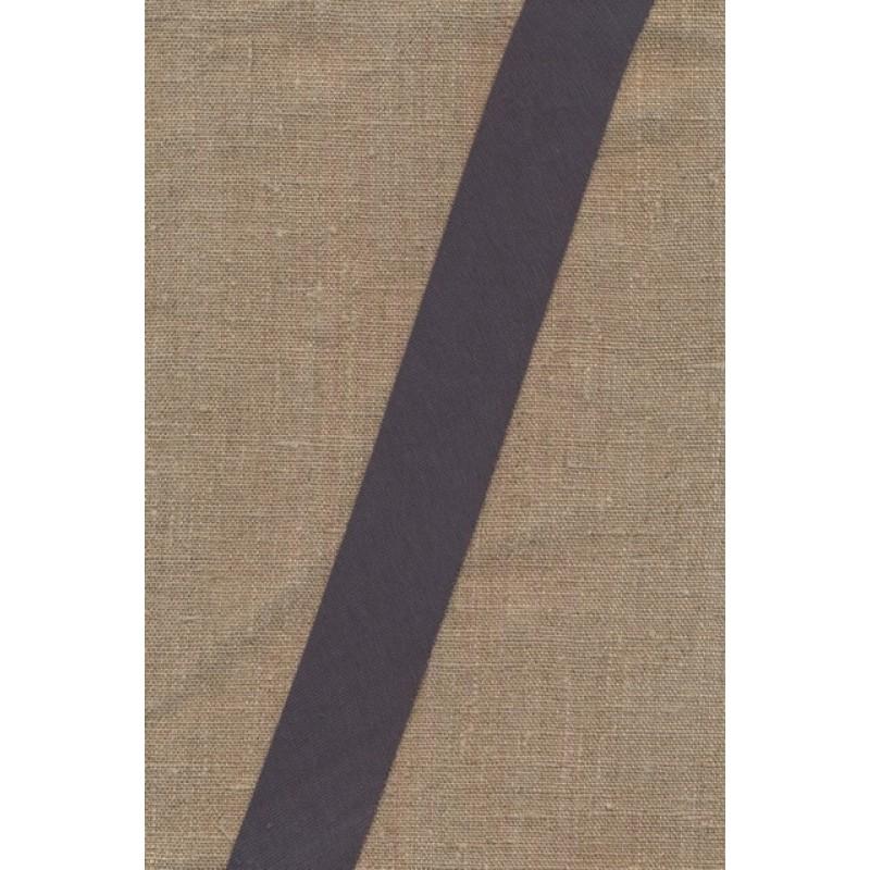 Kantbånd skråbånd i jersey, mørk grå-32