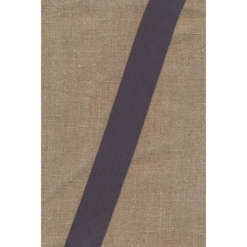 Kantbånd skråbånd i jersey, mørk grå