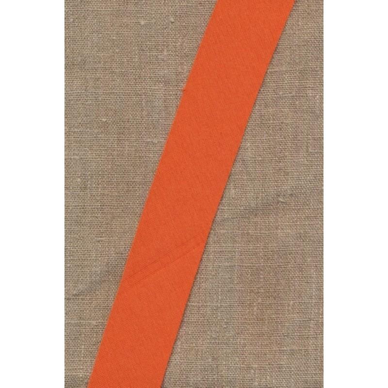 Kantbånd skråbånd i jersey, støvet orange