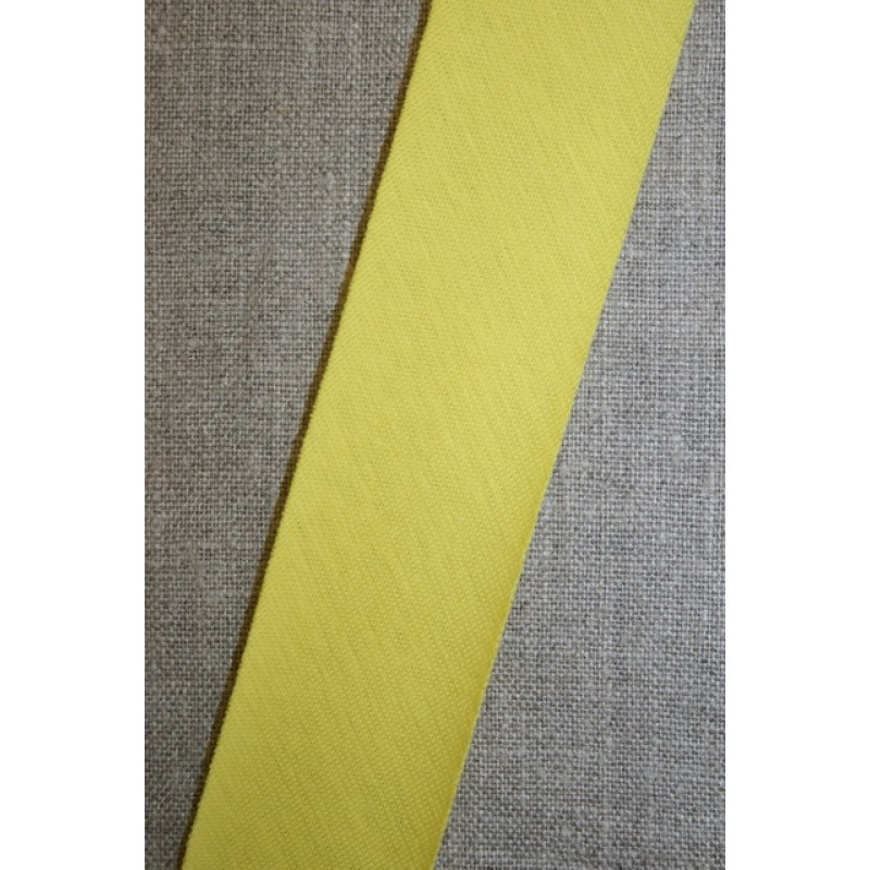Kantbånd skråbånd i jersey, lys gul