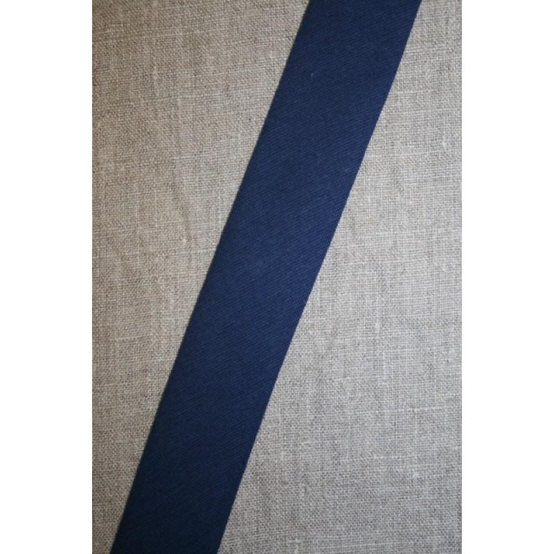 Kantbånd skråbånd i jersey, marine