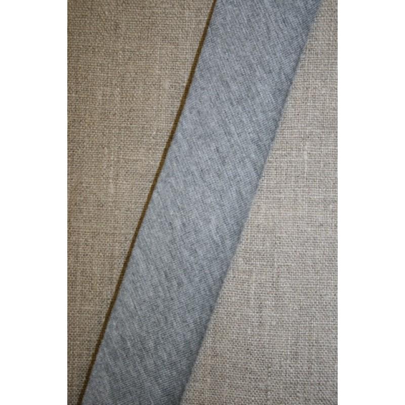 Kantbånd skråbånd i jersey, lys grå-meleret