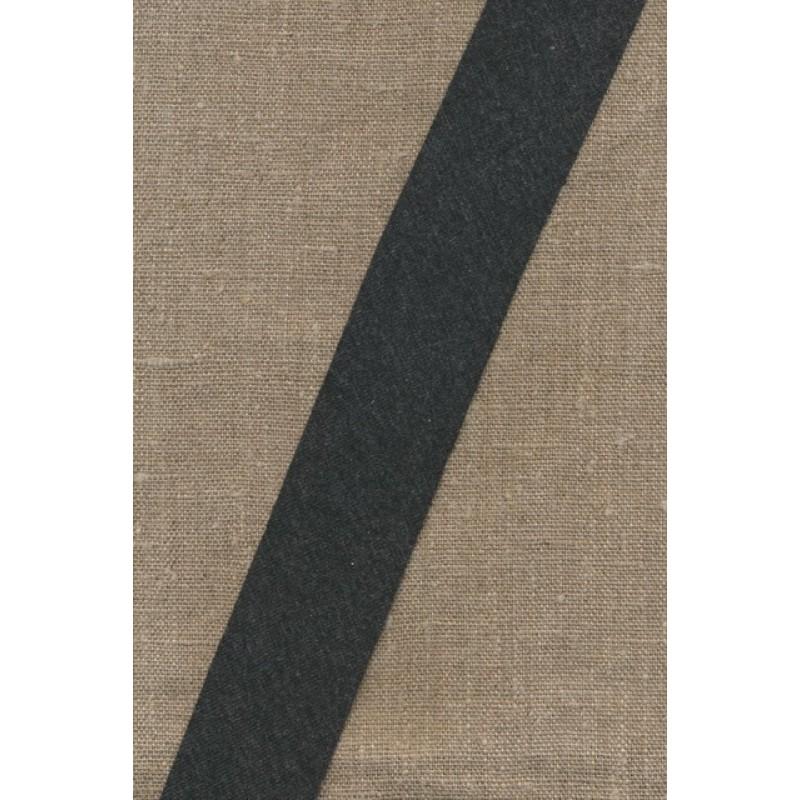 Kantbånd skråbånd i jersey, koksgrå-meleret