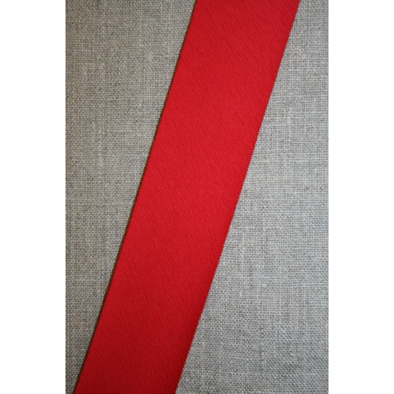 Kantbånd skråbånd i jersey, rød-33
