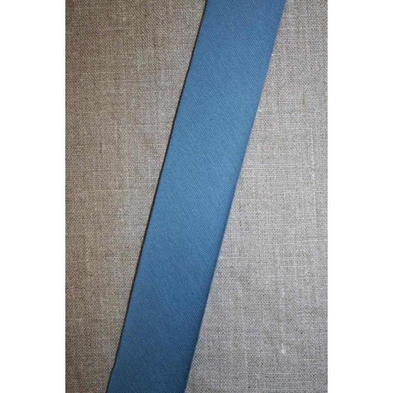 Kantbånd skråbånd i jersey, denim blå-33