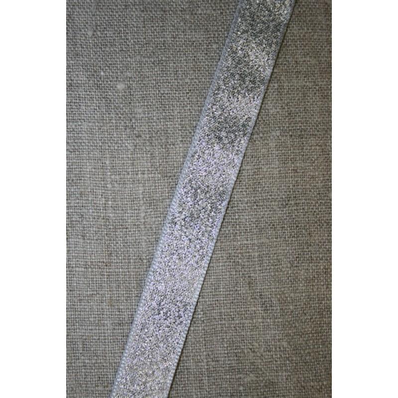 Lurex/lame-bånd sølv, 15 mm.-31