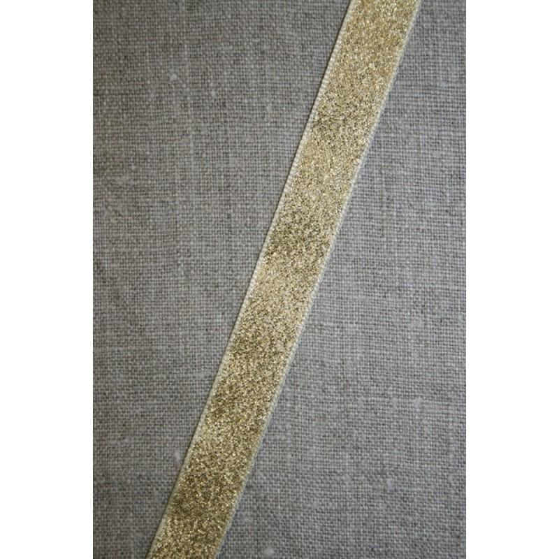Lurex/lame-bånd guld, 15 mm.