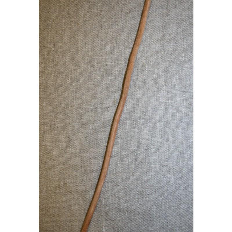 Lædersnor 5 mm. natur-33