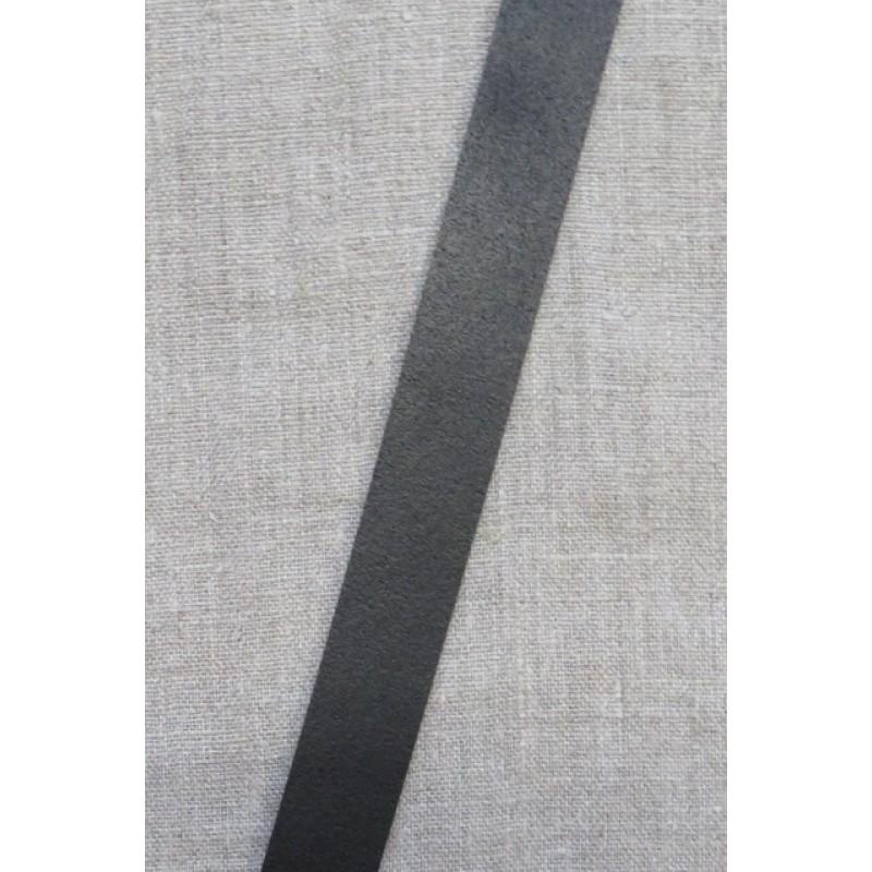 Læderrem i sort 2 cm. x 115 cm.-34