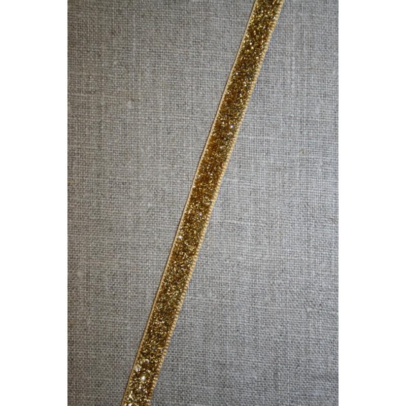 Velourbånd med glimmer-lurex, guld
