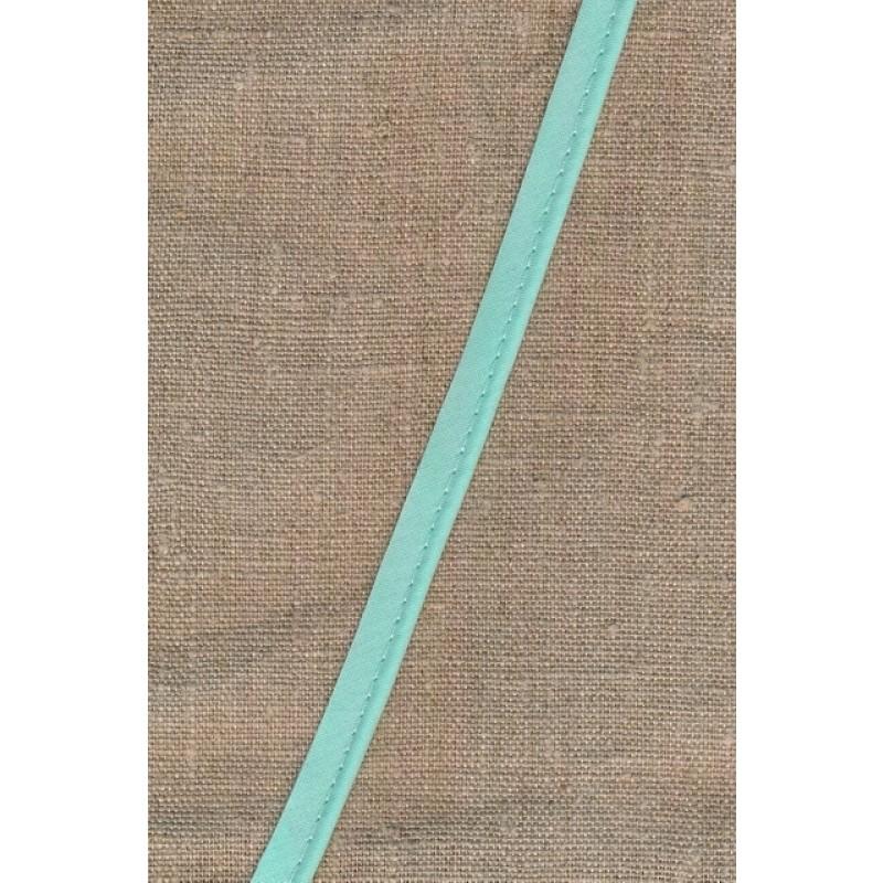 Paspoil-/piping bånd i bomuld, lys aqua