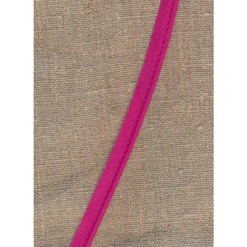 Paspoil-/piping bånd i bomuld, mørk pink-33