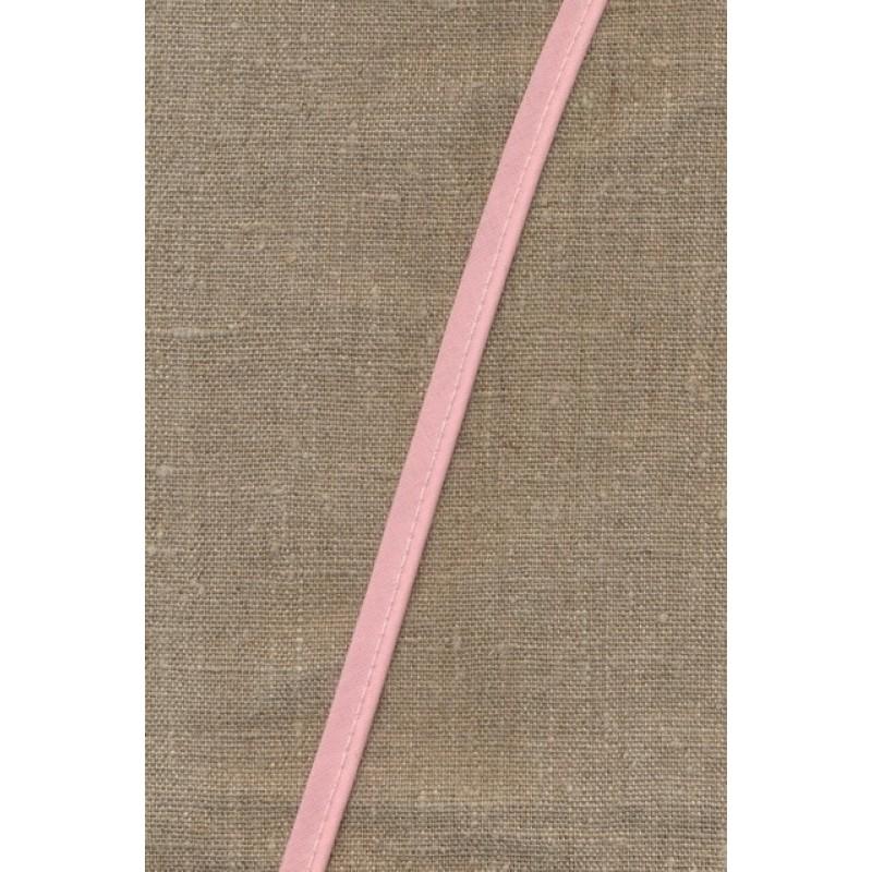 Paspoil-/piping bånd i bomuld, babylyserød-31