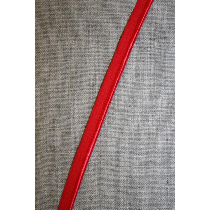 Rest Elastisk Paspoil/piping-bånd rød, 60+39 cm.-35