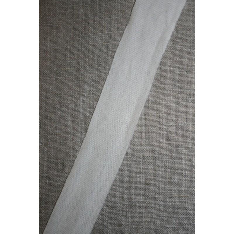 Kant-bånd i jersey, off-white