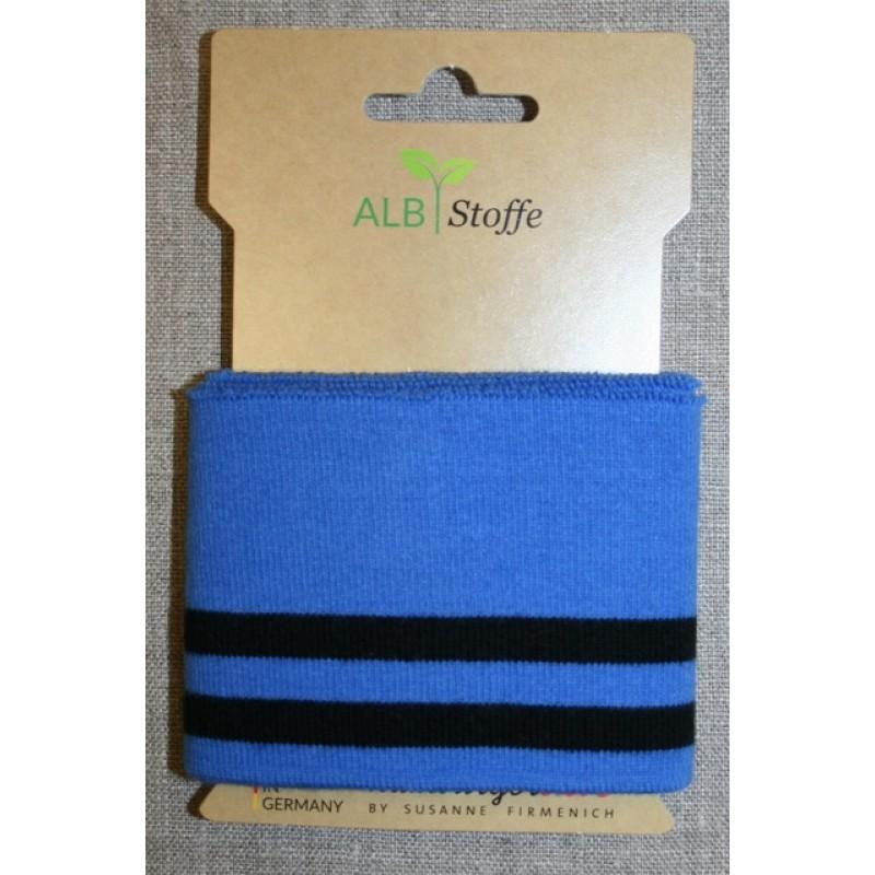 Ribkant college striber blå sort 70 mm x 110 cm.