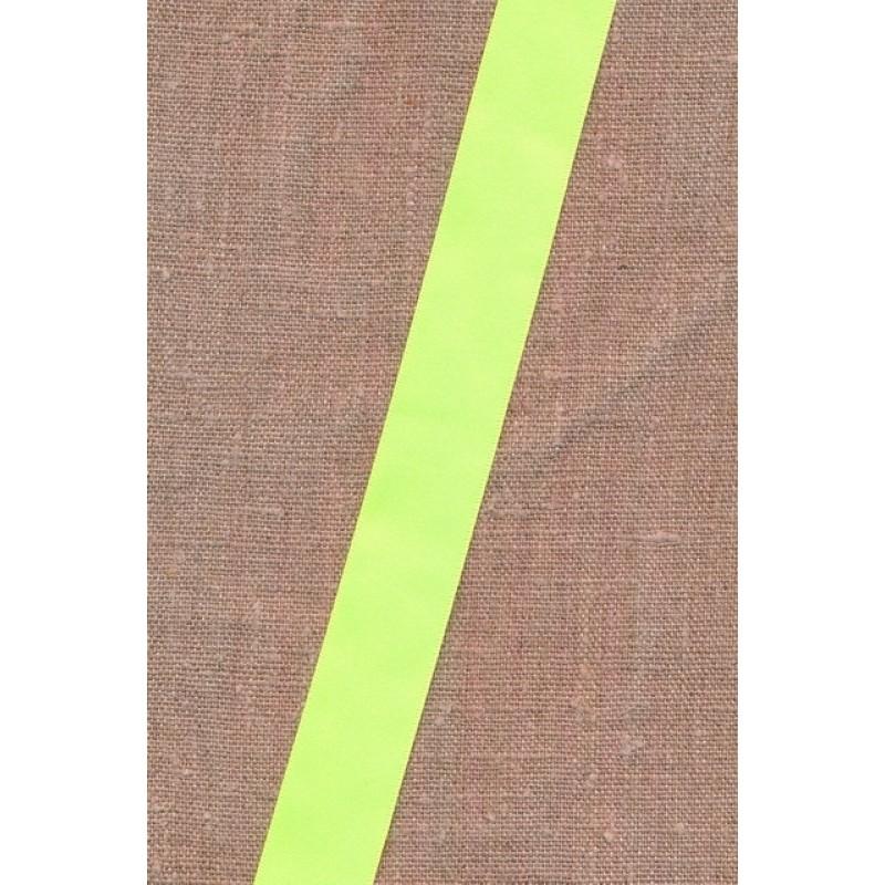 Satinbånd neon gul 25 mm