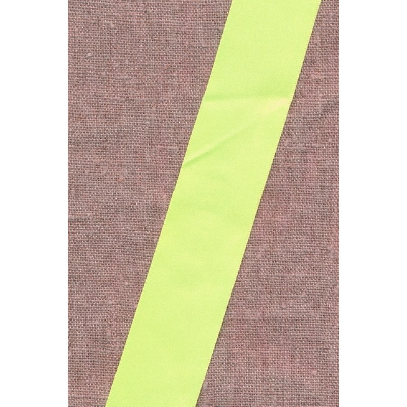 Satinbånd neon gul 35 mm