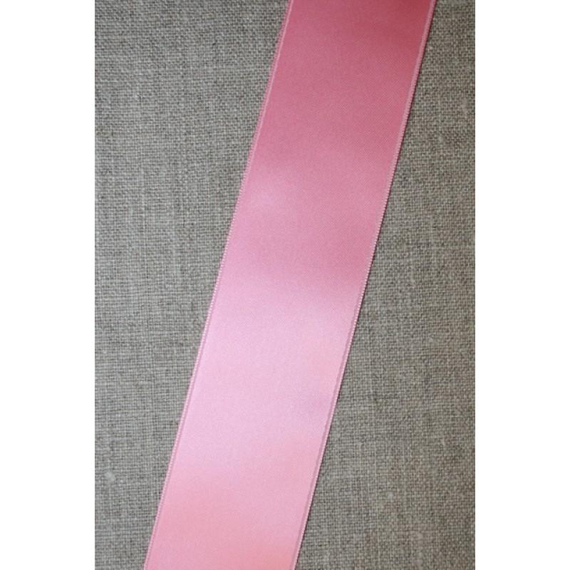 Satinbånd lyserød 40 mm.-35