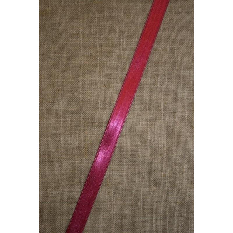 Satinbånd mørk pink 10 mm.