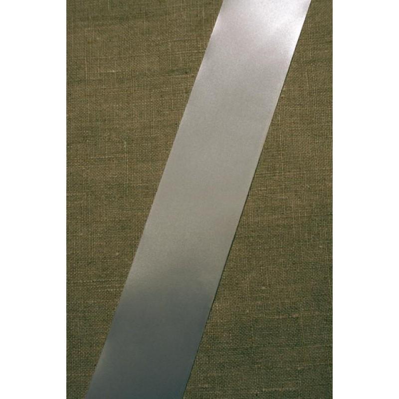 Satinbånd hvid 40 mm.-31