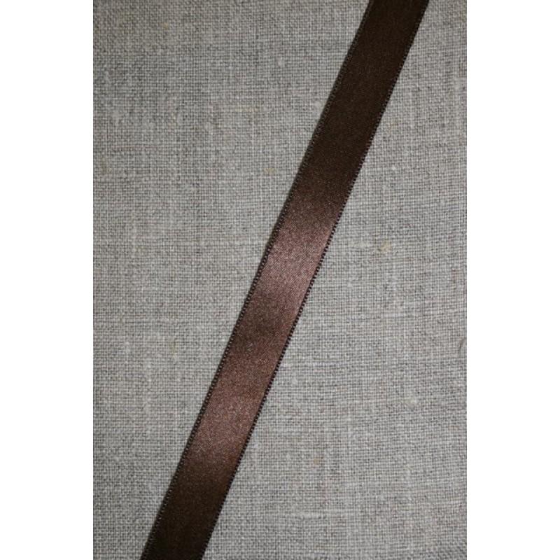 Satinbånd chokoladebrun 15 mm.
