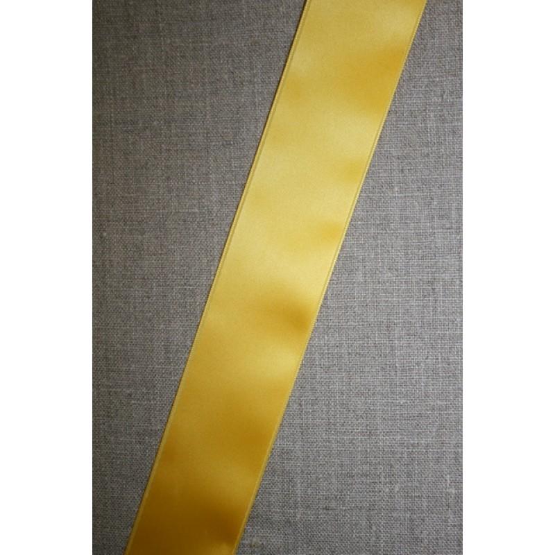 Satinbånd 10+40 mm. gul